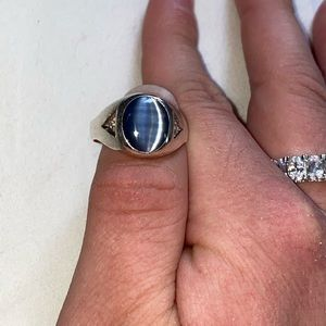 Jewelry - 925 sterling silver diamond & moonstone men's ring